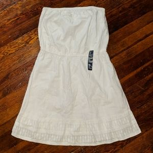 tube top dress with embroidery detail